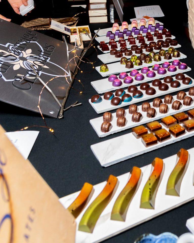 Colorful bonbon display