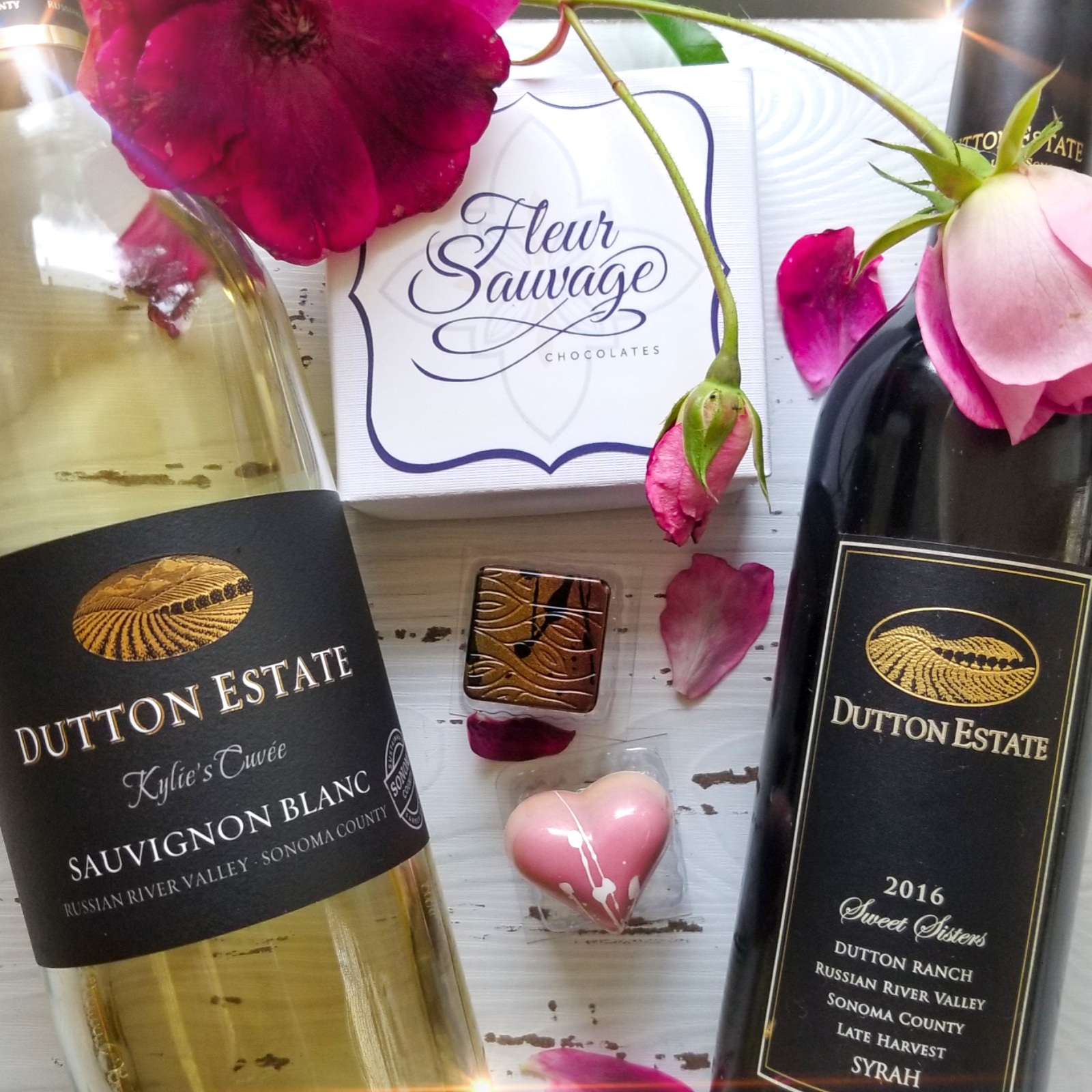 Dutton Estate Wines pairs with Fleur Sauvage Chocolates